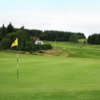 A view of the 1st green at Moffat Golf Club
