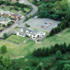 Aerial view of the clubhouse at Greenock Golf Club