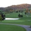 A fall view of a hole at King Valley Golf Course