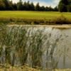 A view over the water of green at Lakeside Lodge Golf Club Centre