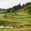 A view of hole 3 on the left side and hole #7 on the right side at 99 East Golf Club Langkawi