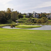 A view of the island green at Chisel Creek Golf Club