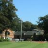 A view of the clubhouse and hole #18 at Walton Hall Golf Club