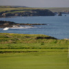 A view of hole #5 with water in background from Headland Course at Trevose Golf & Country Club