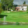 A view of the 18th green with clubhouse in background at Burton on Trent Golf Club