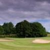 A view of green protected by bunkers at Tapton Park Golf Course