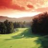 A beautifull sunset view of hole #3 at Sapphire National Golf Club