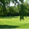 A view of green guarded by bunkers at Darlington Golf Club