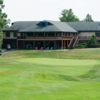 View of the green and clubhouse at Eagle Rock Golf Club