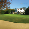 A view of the 18th hole and clubhouse in background at Thorpe Hall Golf Club