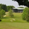 A view of the clubhouse at Dibden Golf Centre