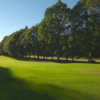 A sunny view of a hole at Ross-on-Wye Golf Club