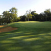 A view of the 18th hole at High Course from Moor Park Golf Club