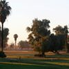 Sunset view of a fairway at Barbara Worth Golf Resort