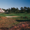 View of the par-4 9th hole at Olde Barnstable Fairgrounds Golf Club
