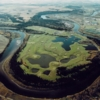Aerial view of the River Bend Golf Course