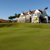 A view of the clubhouse and hole #18 at Hunstanton Golf Club