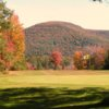 Autumn view of a green at Shephard Hills Golf Course