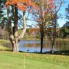Lake view from the putting green at Shephard Hills Golf Course