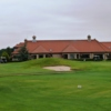 A view of hole #18 and clubhouse at Oaks Golf Club