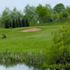 A view over the pond from Delapre Golf Club