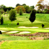 A view of a hole guarded by bunkers at Bondhay Golf Club & Academy
