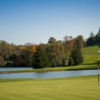 A view of a green with water coming into play at A. J. Jolly Golf Course