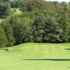 A view of green #14 flanked by bunkers at Mendip Course from Mendip Golf Club