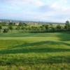 A view of green #1 with Tickenham Church in the background at Tickenham Golf Club