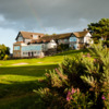 A view of the clubhouse at Hallamshire Golf Club