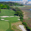 Aerial view of green #3 at Tidewater Golf Club
