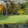 A view of the 1st green at Moore Place Golf Club