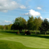 A view of a green protected by tricky bunkers at Stratford-on-Avon Golf Club