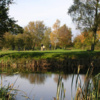 A view over the lake of a green at Bloxwich Golf Club