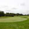 A view of a hole protected by tricky bunkers at Stonebridge Golf Club.