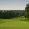 A view of the 9th green at Waterfall Course from Mannings Heath Golf Club