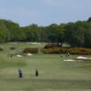 A view of the 1st fairway at Alwoodley Golf Club
