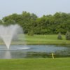 View of a green and fountain at Songbird Hills Golf Club