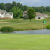 A view of a green with water coming into play at Legends of Massillon