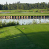A view of the island green at Goose Hummock Golf Resort
