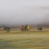 A misty view of hole #9 at Machynlleth Golf Club