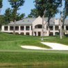A view of the clubhouse at TPC Deere Run