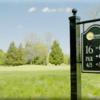 A view of the 16th tee sign at Mattawang Golf Club
