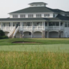 A view of the clubhouse at Royal St. Patrick's Golf Course
