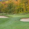 A fall view of green #11 at Greywalls Course  from Marquette Golf Club