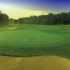A view of a hole protected by sand trap at Glenview Golf Course