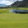 A view of a green with water coming into play at Sonora Dunes Golf Course