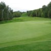 A view of the 1st green at Athabasca Golf and Country Club