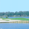 A view over the water of a green at Cane Garden Country Club