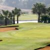 A view of a green protected by some tricky bunkers at Katameya Heights Golf & Tennis Resort